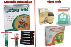 Phân biệt các sản phẩm thuốc ho Cường Phế trên thị trường hiện nay